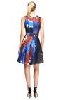 Printed Silk Tie Dye Belted Dress by RODARTE Now Available on Moda Operandi
