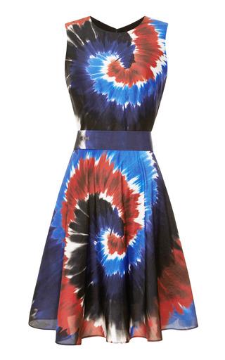 Medium rodarte multi printed silk tie dye belted dress