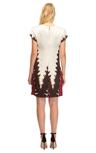 Silk Satin Tie Dye Printed Dress by RODARTE Now Available on Moda Operandi