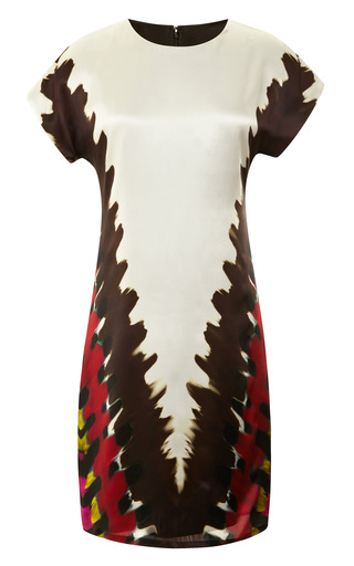 Medium rodarte multi silk satin tie dye printed dress