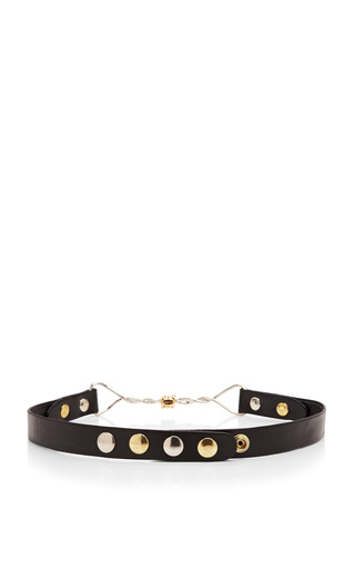 Leather Belt With Barbed Wire Buckle by RODARTE Now Available on Moda Operandi