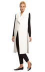 Long Rubberized Cotton Open Vest Trench by ELLERY Now Available on Moda Operandi