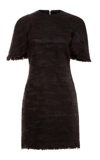 Medium ellery black tweed short sleeve dress