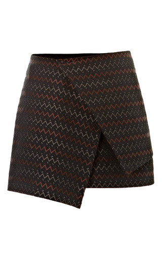 Zigzag Brocade Wrap Skirt by ELLERY Now Available on Moda Operandi