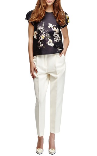 Aberdeen Floral Print Cotton Silk Twill Top by ELLERY Now Available on Moda Operandi
