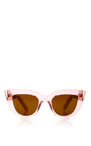Medium ellery pink transparent cat eye sunglasses