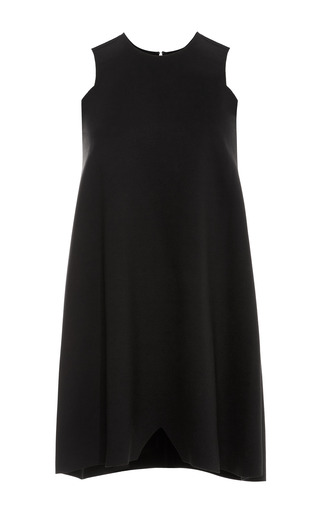 Medium ellery black ponte sleeveless a line dress