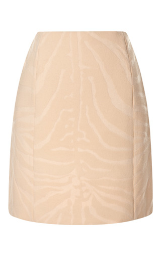 Zebra Printed Wool Blend Mini Skirt by CARVEN Now Available on Moda Operandi