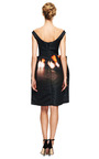 Off The Shoulder Printed Satin Dress by CARVEN Now Available on Moda Operandi