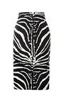 Zebra Print Satin Pencil Skirt by CARVEN Now Available on Moda Operandi