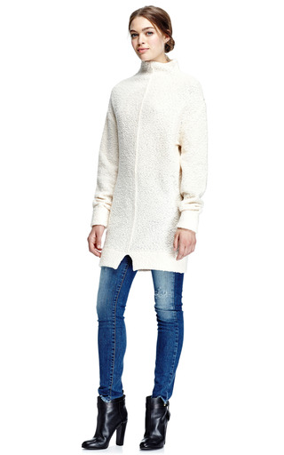 Mock Neck Wool Blend Tunic Sweater by CARVEN Now Available on Moda Operandi