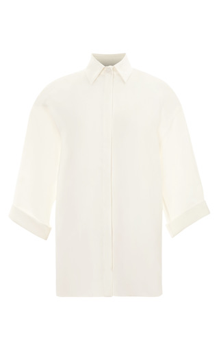 Medium giambattista valli white oversized satin top