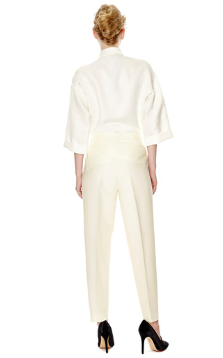 Single Pleated Crepe Pants by GIAMBATTISTA VALLI Now Available on Moda Operandi
