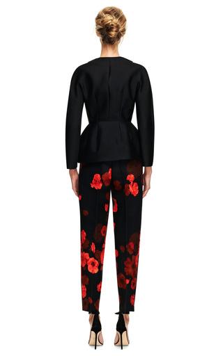 Pleated Floral Print Wool Blend Pants by GIAMBATTISTA VALLI Now Available on Moda Operandi