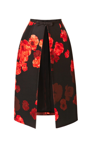 Wool Blend Floral Printed Dress by GIAMBATTISTA VALLI Now Available on Moda Operandi