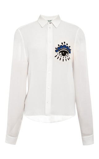 Embroidered Silk Blouse by KENZO Now Available on Moda Operandi