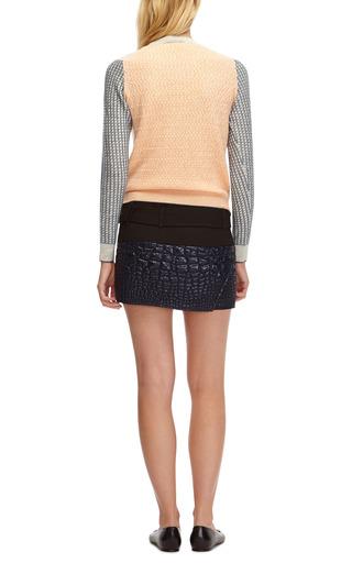 Reptile Jacquard Mini Wrap Skirt by KENZO Now Available on Moda Operandi
