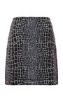 Reptile Print Jacquard Jersey Mini Skirt by KENZO Now Available on Moda Operandi