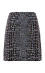 Reptile Print Jacquard Jersey Mini Skirt by KENZO Now Available on Moda Operandi