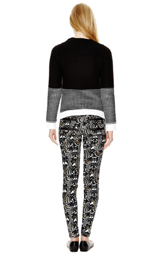 Printed And Striped Denim Jeans by KENZO Now Available on Moda Operandi