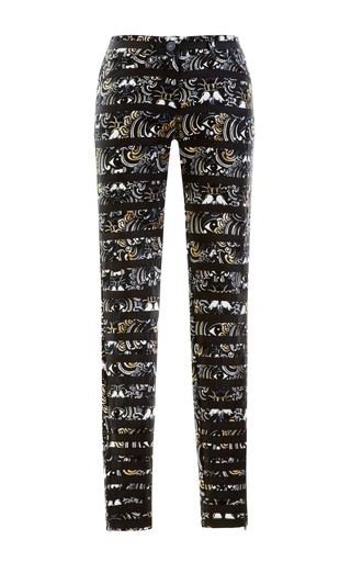 Medium kenzo multi printed and striped denim jeans