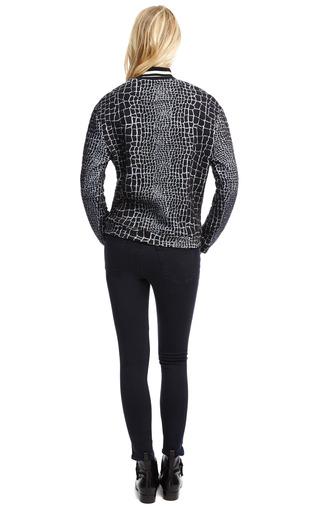 Reptile Print Jacquard Jersey Sweatshirt by KENZO Now Available on Moda Operandi