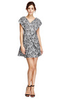 Jacquard V Neck Dress by KENZO Now Available on Moda Operandi