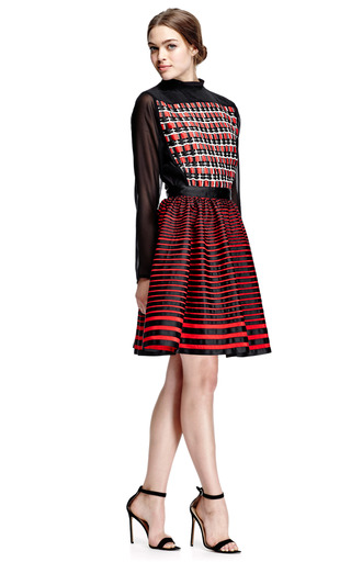 Woven Bodice Full Skirted Dress by KENZO Now Available on Moda Operandi