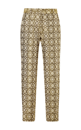 Medium suno gold printed cropped pant with tapered leg
