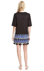 Tunic With Embroidery And Pom Pom Detail by SUNO Now Available on Moda Operandi