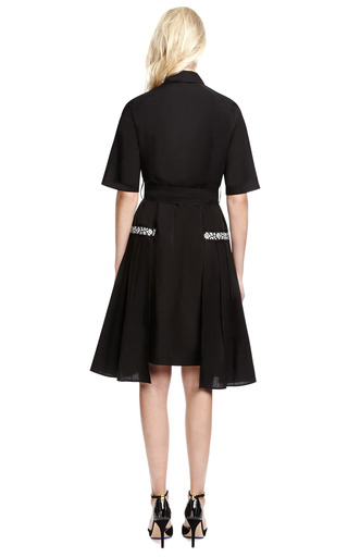 Cotton Belted Shirtdress With Embroidery by SUNO Now Available on Moda Operandi