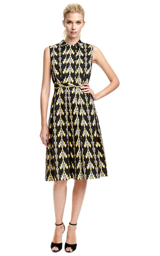 Printed Dress With Pleated Skirt by SUNO Now Available on Moda Operandi