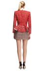 Ladder Stitched Peplum Jacquard Jacket by THOM BROWNE Now Available on Moda Operandi