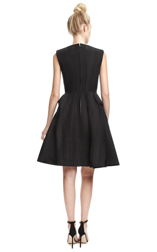 Silk Faille A Line Dress by THOM BROWNE Now Available on Moda Operandi