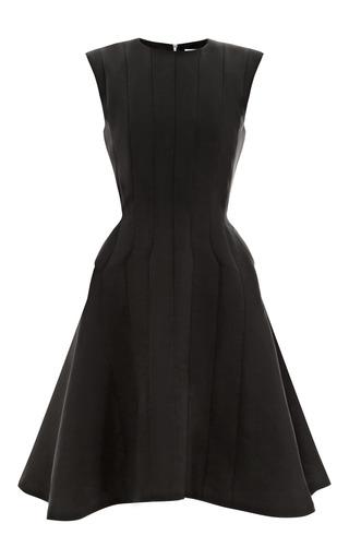 Medium thom browne black silk faille a line dress