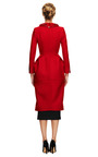Structured Wool Coat With Fur Collar by THOM BROWNE Now Available on Moda Operandi