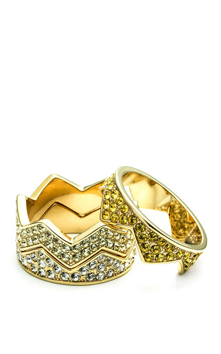 Medium eddie borgo gold ombre pave bear trap ring