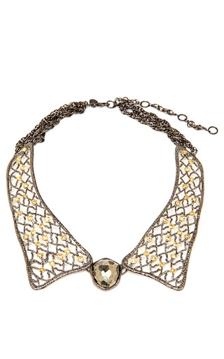 Jardin de papillon lace collar necklace by alexis moda for Alexis bittar jardin de papillon