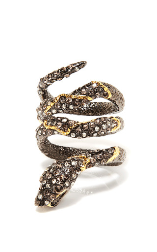 Medium alexis bittar gold jardin de papillon snake ring