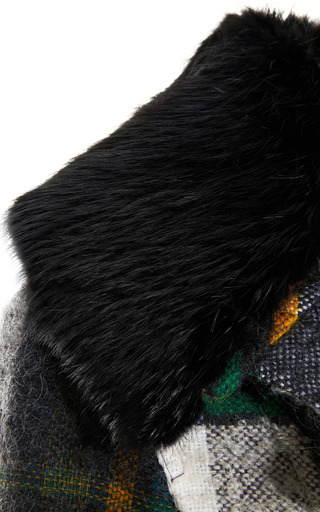 Fur Collared Mohair Blend Cropped Jacket by MARNI Now Available on Moda Operandi