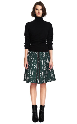 Silk Blend Printed Skirt by MARNI Now Available on Moda Operandi