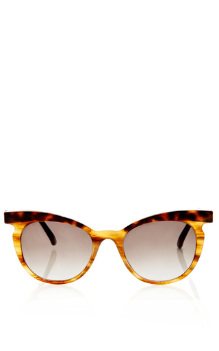 Medium marni brown two tone cat eye sunglasses