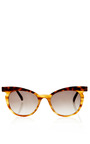 Two Tone Cat Eye Sunglasses by MARNI Now Available on Moda Operandi