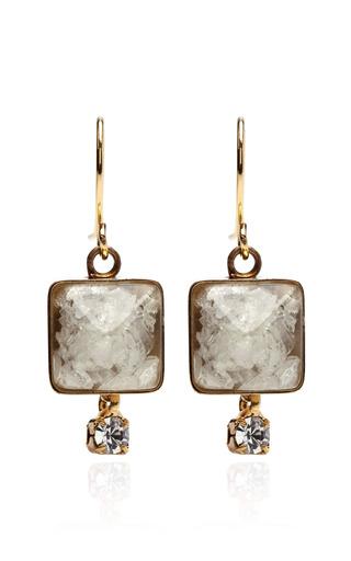 Medium marni white stone drop earrings
