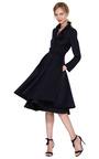 Belted Full Skirted Coat by OSCAR DE LA RENTA Now Available on Moda Operandi