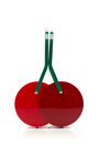 Cherry On Top Satchel by CHARLOTTE OLYMPIA for Preorder on Moda Operandi