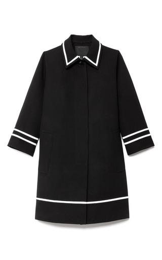 Medium marc jacobs black doubleface wool balmacaan with grosgrain trim