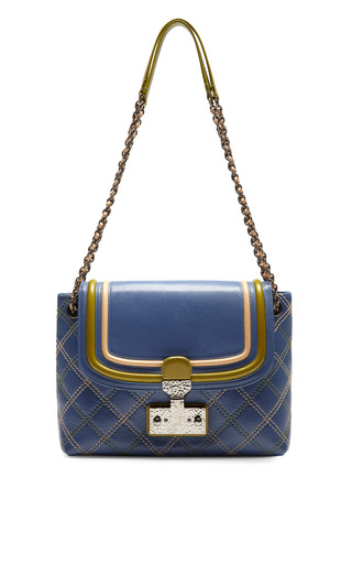 Medium marc jacobs blue the large single baroque shoulder bag