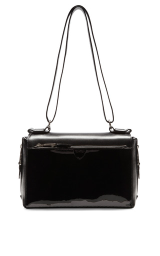 Medium marc jacobs black amelia patent leather shoulder bag