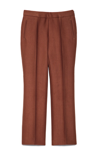 Medium rochas brown armure tailored trousers